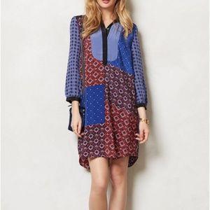 Anthropologie Moulinette Soeurs Silk Shirt Dress